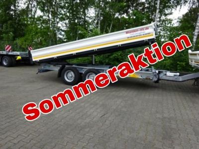 Möslein TTD 11 Weiß Tandem 3- Seitenkipper Tieflader -- Neufahrzeug --