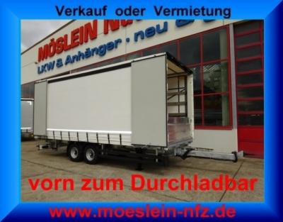 Möslein TPW 105 D 7,30 Tandem- Schiebeplanenanhänger, Durchladen Ladungssicherungszertifikat nach EN 12642 XL -- Luftgefedert, ABS --