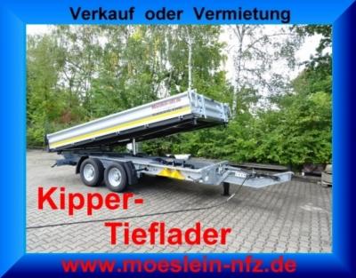 Möslein TTG 11 Verzinkt Tandem 3- Seitenkipper Tieflader -- Neufahrzeug --