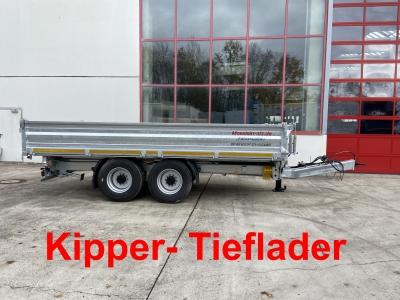 Möslein TTD 14  5,70 m 14 t Tandem- Kipper Tieflader 5,70 m lang, Breite Reifen -- Neufahrzeug --